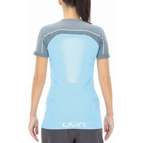 UYN Marathon Shortsleeve Shirt Women, river blue/stormy weather/white